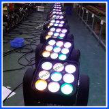 Lumière principale mobile de la matrice 9PCS*12W RGBW d'éclairage de DEL
