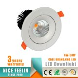 Garantía de la MAZORCA LED Downlight 5years del CREE de Ce/RoHS 25W