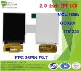 2.0 인치 176*220 MCU TFT LCD 위원회, Gc9201, 선택권 접촉 스크린을%s 가진 36pin