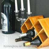 Cremalheira de indicador Tabletop dos vinhos dos frascos da cremalheira 7 do vinho do presente elegante