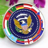 Moneta su ordinazione del ricordo dello smalto della bandiera nazionale