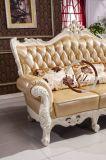 居間のための現代革角のソファー