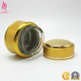 Soem-goldener kosmetischer Flaschen-Spott oben