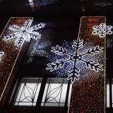 ショッピングモールの雪片デザインの大きいクリスマスLEDライト装飾