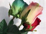 장식 꽃 결혼식 홈이 인공 꽃 실제적인 접촉에 의하여 결혼식 신부 꽃다발 가짜 로즈 꽃이 핀다