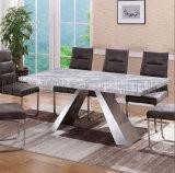 セットされる新しい方法拡張可能なデザイン大理石の上のダイニングテーブル(NK-DT224-2)