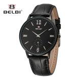 Uhr-Form-Geschäfts-Serien-Leder-wasserdichte Quarz-Uhr der Belbi Männer