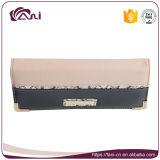 Monedero para las mujeres, carpeta de la mano de la PU del cierre relámpago con diseño de la manera