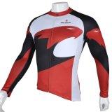 Куртка спортов способа красного орла холодная покрывает втулка Breathable быстро сухой задействуя Джерси людей длинняя