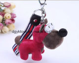 Diverso animal Keychain de la felpa del color
