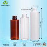 botellas plásticas cosméticas vacías blancas del animal doméstico del recorrido 100ml
