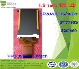 3.5 intense luminosité de pouce 320X480 MCU 39pin, étalage de TFT LCD