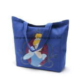 Bolso reciclado de la lona, bolso de hombro, bolso del algodón, bolsos de compras
