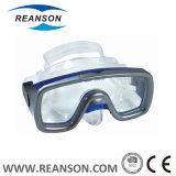 좋은 품질 강화 유리 렌즈 잠수 가면