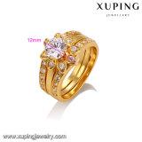 14303 Goldfarben-Ring der Form-eleganter Schmucksache-24k für Frauen
