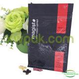 saco de café da folha de alumínio de parte inferior 250g lisa com válvula