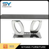 Tableau de console en verre de type de noir français de meubles
