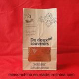 Bolso de papel personalizado del pan de Kraft con la impresión colorida