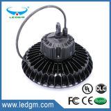 Luz elevada quente do louro do UFO do diodo emissor de luz 120W, IP65, preço de fábrica com luz elevada do louro do UFO da garantia 5years