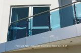 Corrimani di vetro dell'acciaio inossidabile della balaustra della scala di Inox per i punti esterni