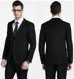 黒はデザイナー人のSeersuckerのスーツを予約した
