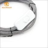 Le tissu a couvert le cordon-connecteur de câble de fiche de Pin du R-U 3