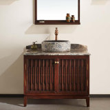 Het stevige Kabinet van de Spiegel van de Badkamers van de As Houten Waterdichte (GSP14-014)