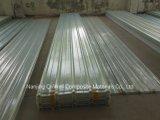 La fibre de verre ondulée de panneau de FRP/toiture transparente en verre de fibre lambrisse W171024