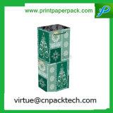 Colorear las actuales bolsas de papel de la fiesta de Navidad para el empaquetado del vino