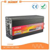 Suoer inversor con el cargador de 24V 220V Power Inverter 2500W de onda sinusoidal modificada inversor solar con CE y RoHS (HDA-2500D)
