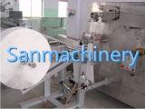 Wipes molhados rolados que manufaturam o guardanapo molhado da máquina que faz a maquinaria