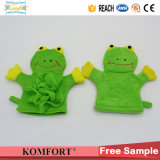 Марионетка руки лягушки перчатки перчатки ванны СПЫ младенца лягушки Klb-046 Exfoliating животная
