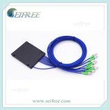 Fibra óptica Splitter 1X2 1X3 1X4 1X5 1X6 1X7 1X8