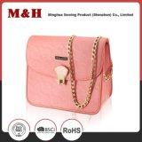 Sac à main rose portatif exquis de dames de sac d'épaule de chaîne en métal