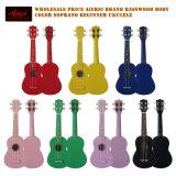 Оптовый ODM OEM гитара Ukulele сопрано цвета 21 дюйма акустическая