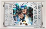 Картина маслом конструкции кирпича мальчика 3D Astro для комнаты детей