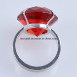 40mm Rot-Kristalldiamant-Metallserviette-Halter-Ring