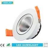 Der LED-weiße Aluminiumkarosserie Dimmable unten heller PFEILER vertieftes Lampen-5W warmes Weiß