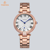 De Vrouwen van het Polshorloge van het Kwarts van de Chronograaf van het Kristal van de manier namen Gouden Horloge 71041 van Juwelen toe