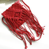 Hand-Wovenわらは方法女性浜のふさのハンドバッグを袋に入れる