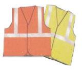 Gilet 100% fluorescent de tricotage de gilet de polyester Wh402