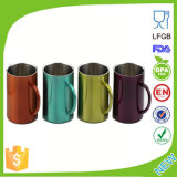 Чашки кружек кофеего нержавеющей стали с печатание логоса