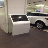 pavimento 55inch che si leva in piedi affissione a cristalli liquidi che fa pubblicità al chiosco di servizio di auto del distributore automatico