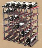 Support de vin de peinture de crémaillère de vin en bois solide de 30 bouteilles