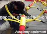 두 배 단계 다리 마사지 기계의 옥외 체조 장비
