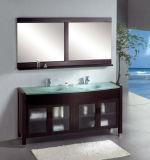 Пол стоя одиночная тщета ванной комнаты раковины с бортовыми шкафами