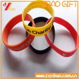 Изготовленный на заказ Wristband силикона логоса для подарков промотирования