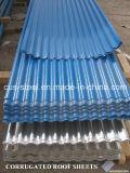 Telhas de telhado do metal da cor feitas em China/folha trapezoidalmente galvanizada da telhadura