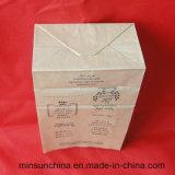 De aangepaste Zak van het Document van het Brood van Kraftpapier met Kleurrijke Af:drukken