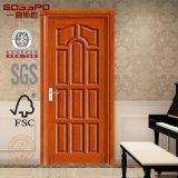 Diseño de madera sólido de la puerta de la chapa multi del panel (GSP6-018)